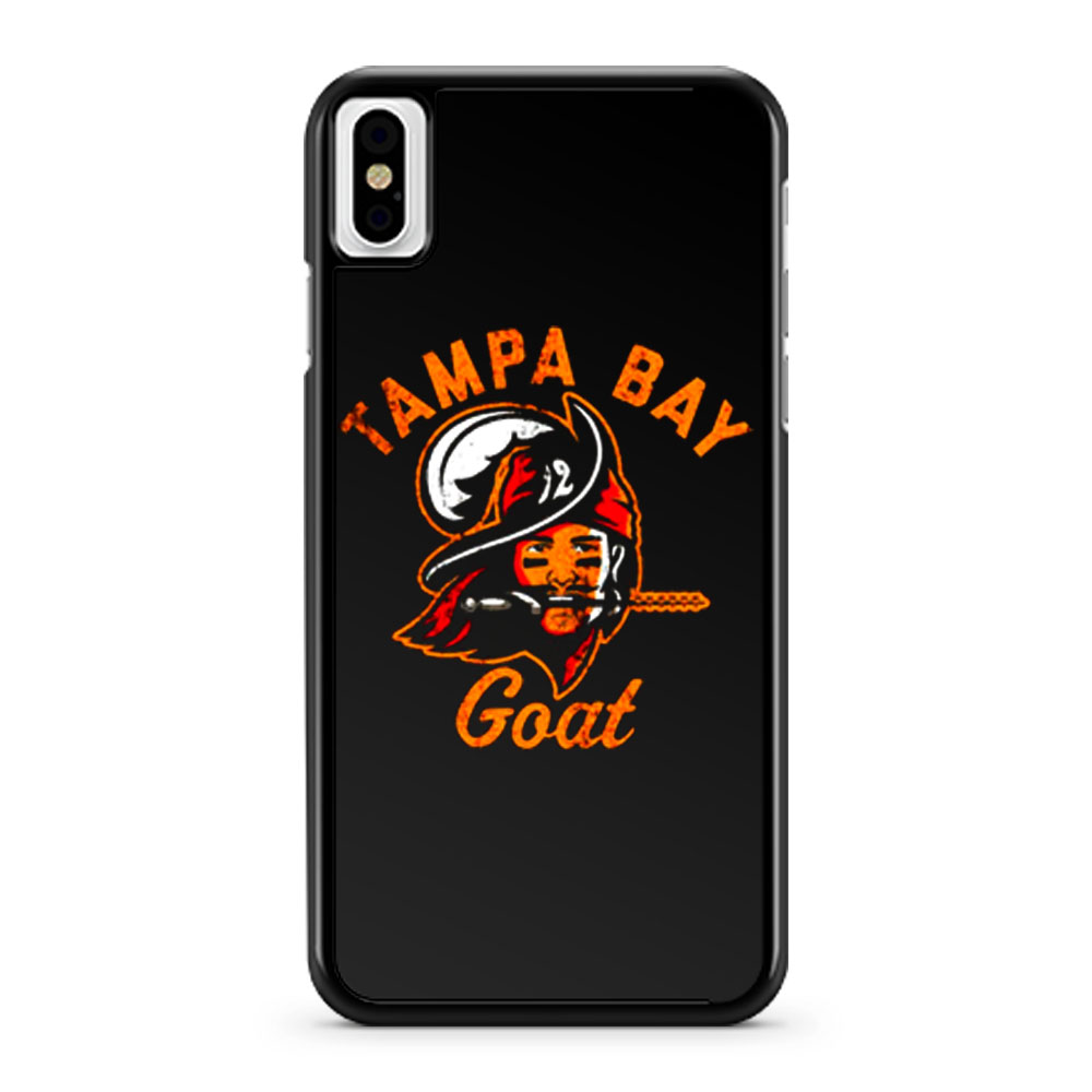 The Tampa Bay Goat Tampa Bay Buccaneers Tom Brady iPhone X Case iPhone XS Case iPhone XR Case iPhone XS Max Case