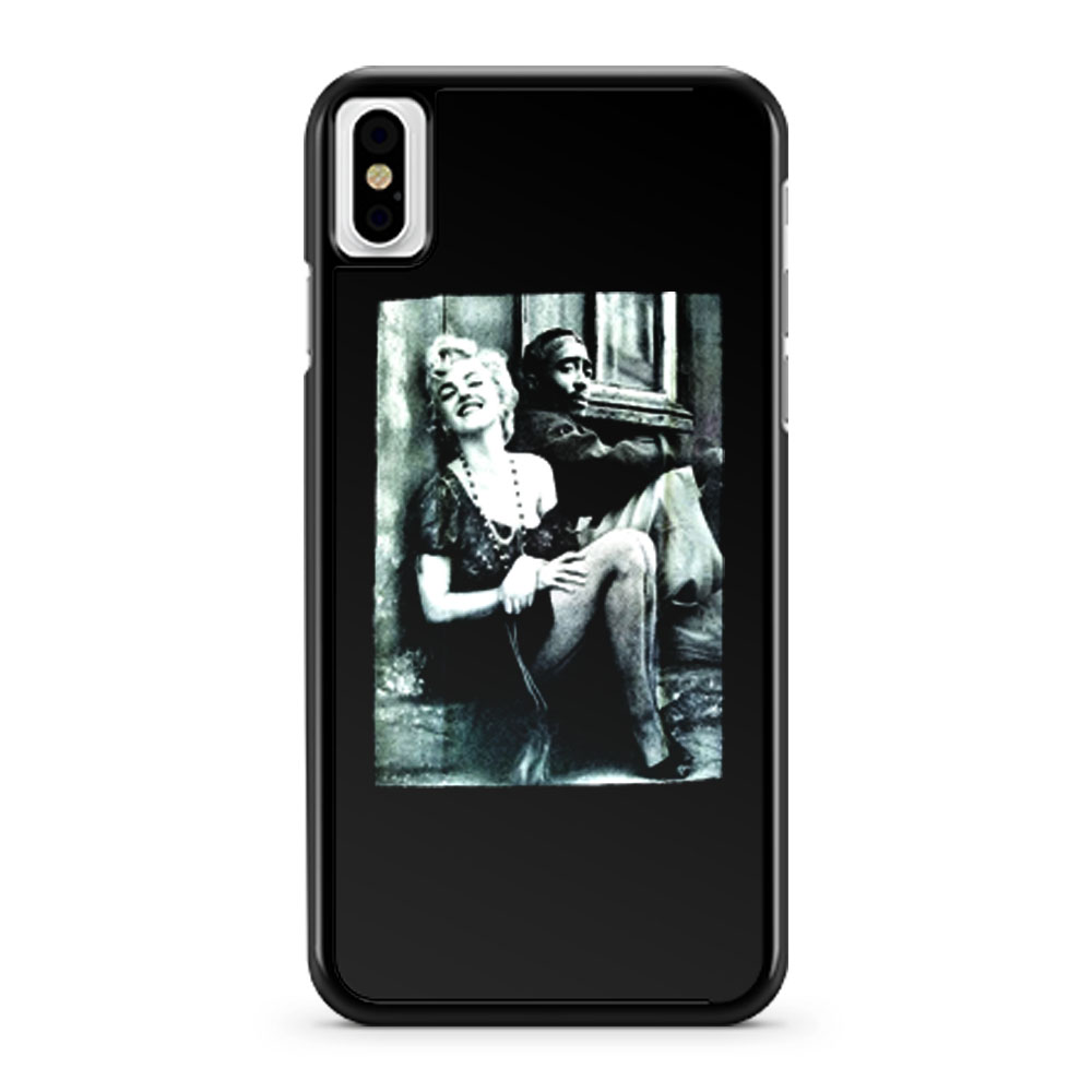 Tupac And Marilyn Monroe Couple iPhone X Case iPhone XS Case iPhone XR Case iPhone XS Max Case