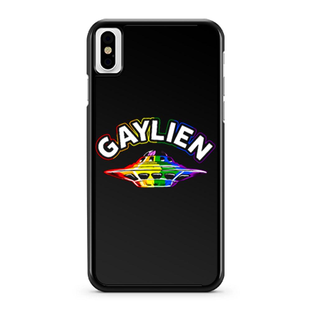 UFO Gay Pride Gaylien Funny Gay Pride iPhone X Case iPhone XS Case iPhone XR Case iPhone XS Max Case