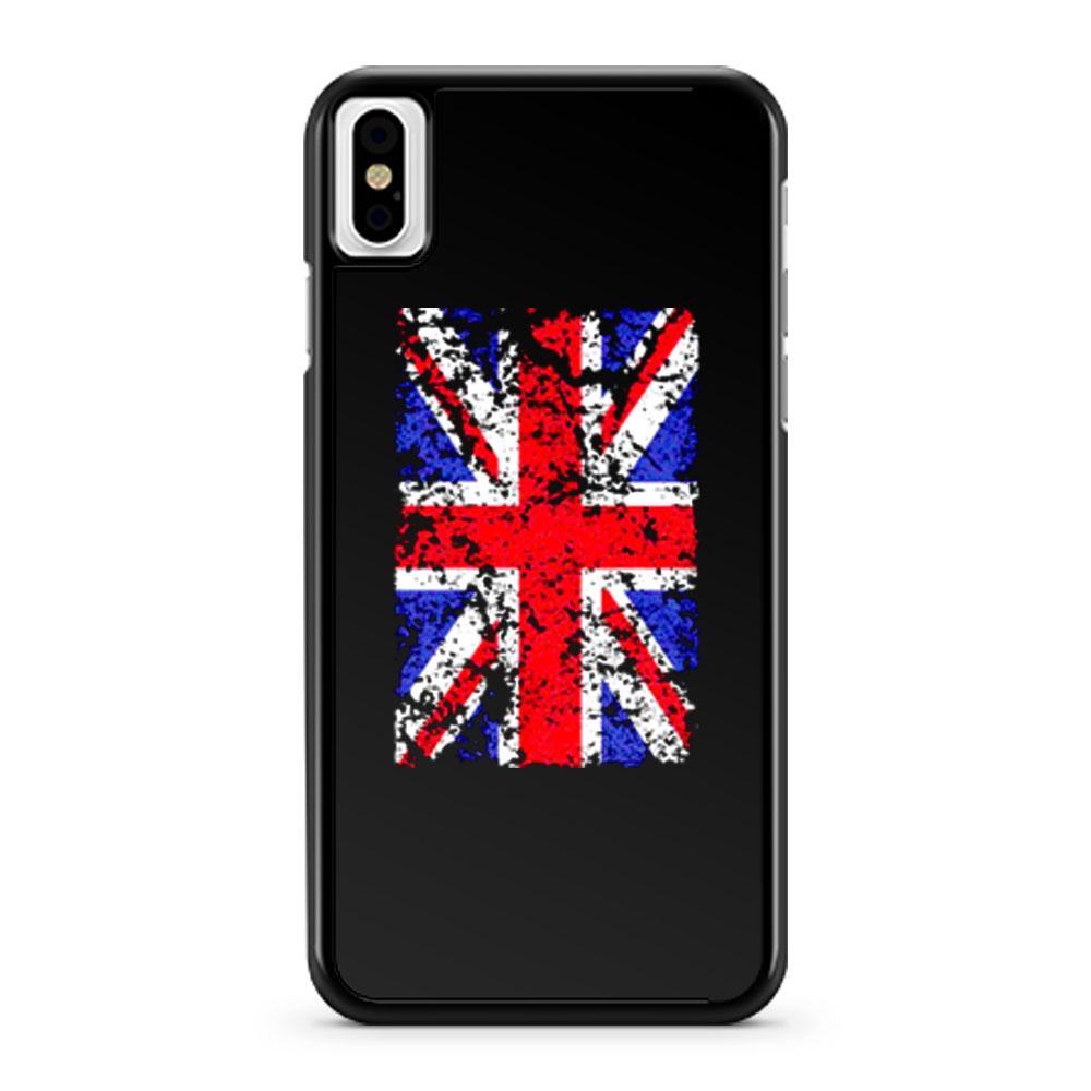 Union Jack Vintage Flag iPhone X Case iPhone XS Case iPhone XR Case iPhone XS Max Case