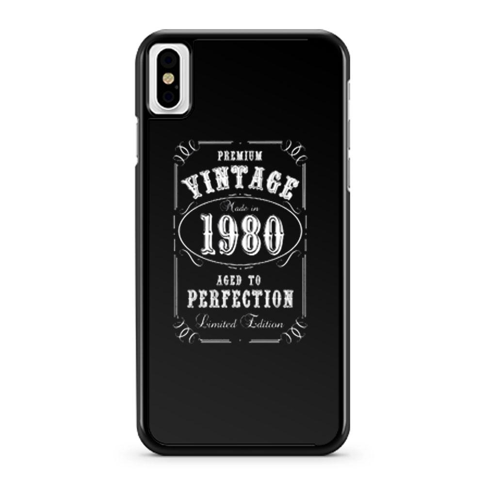 Vintage 1980 iPhone X Case iPhone XS Case iPhone XR Case iPhone XS Max Case