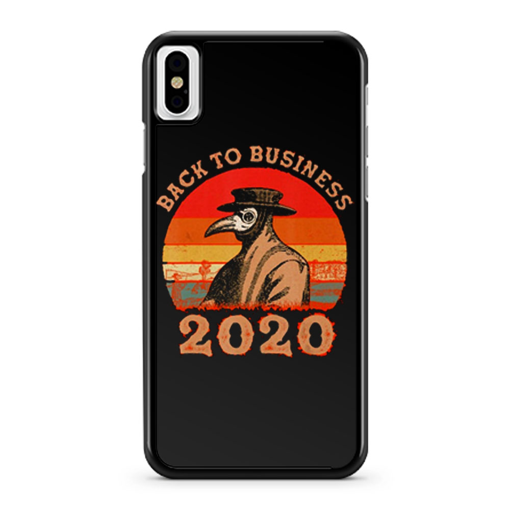 Vintage Back To Business 2020 Plague Doctor iPhone X Case iPhone XS Case iPhone XR Case iPhone XS Max Case