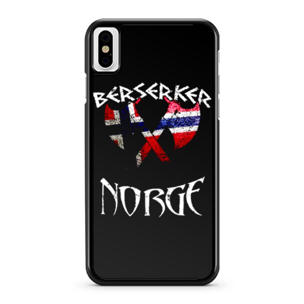 Vintage Viking Berserker Norway Norge iPhone X Case iPhone XS Case iPhone XR Case iPhone XS Max Case