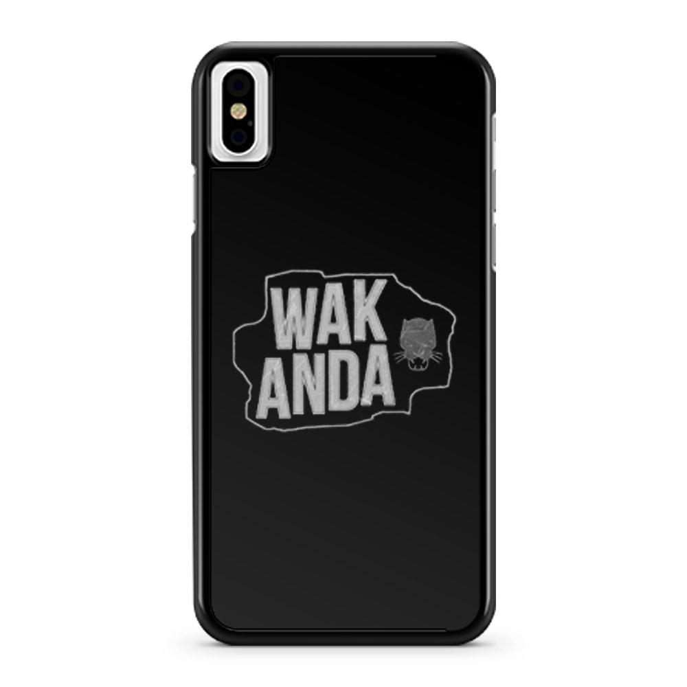 WAKANDA Panther Map iPhone X Case iPhone XS Case iPhone XR Case iPhone XS Max Case