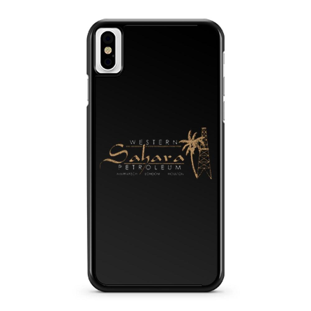 Western Sahara Petroleum distressed iPhone X Case iPhone XS Case iPhone XR Case iPhone XS Max Case