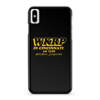 Wkrp In Cincinnati More Music Less Nessman iPhone X Case iPhone XS Case iPhone XR Case iPhone XS Max Case