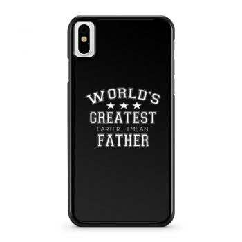 Worlds Greatest Farter iPhone X Case iPhone XS Case iPhone XR Case iPhone XS Max Case