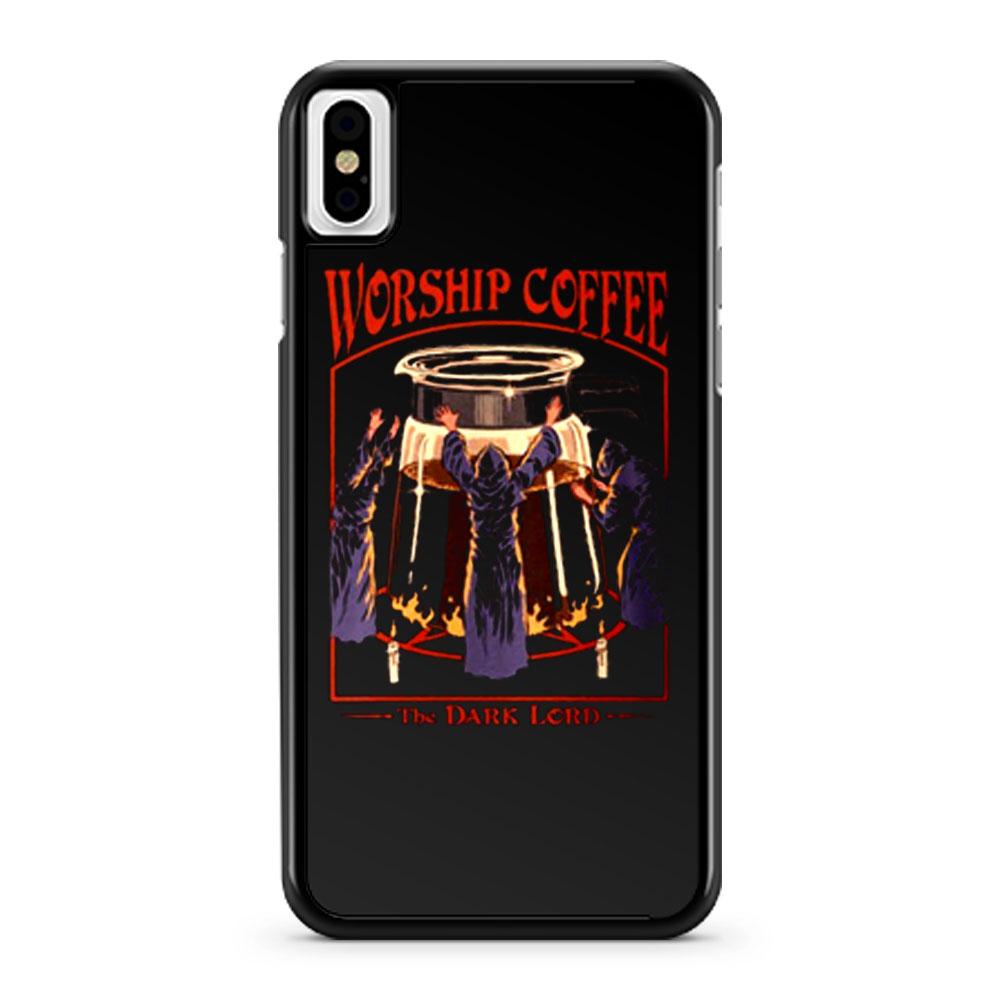 Worship Coffee Ritual Funny iPhone X Case iPhone XS Case iPhone XR Case iPhone XS Max Case