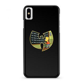 Wu Tang Clan Bart Simpson iPhone X Case iPhone XS Case iPhone XR Case iPhone XS Max Case