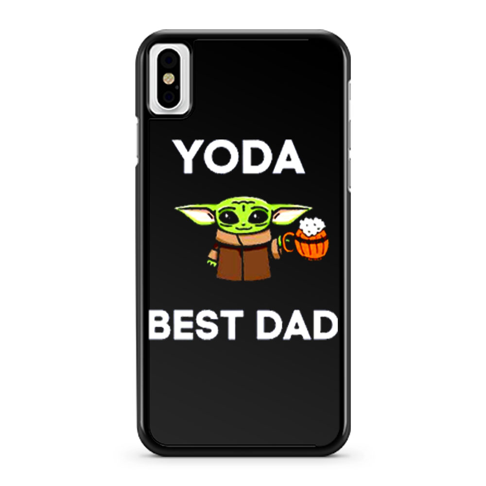 Yoda Best Dad Baby Yoda Take A Beer Funny Star Wars Parody iPhone X Case iPhone XS Case iPhone XR Case iPhone XS Max Case