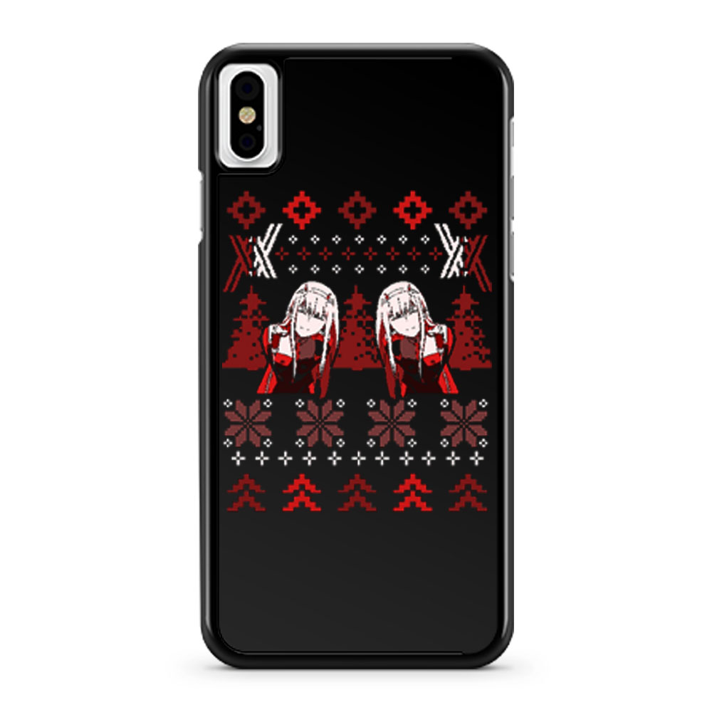 Zero Two Christmas Darling in the Franxx iPhone X Case iPhone XS Case iPhone XR Case iPhone XS Max Case