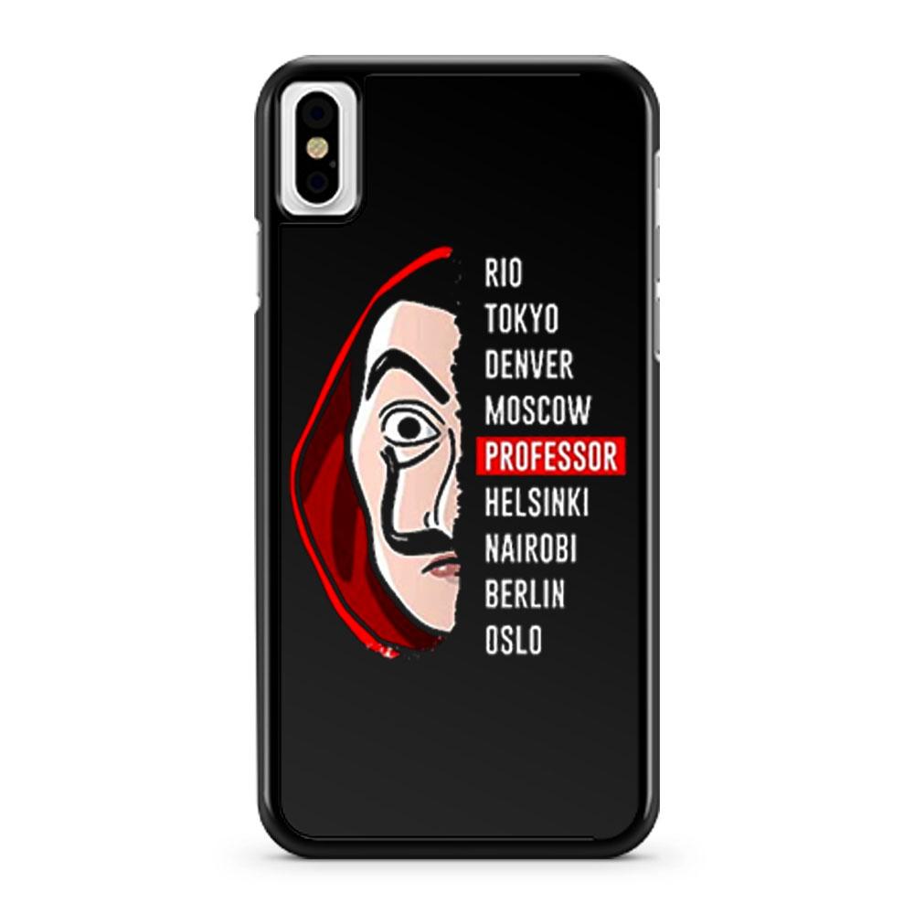 la Casa de Papel Money Heist iPhone X Case iPhone XS Case iPhone XR Case iPhone XS Max Case