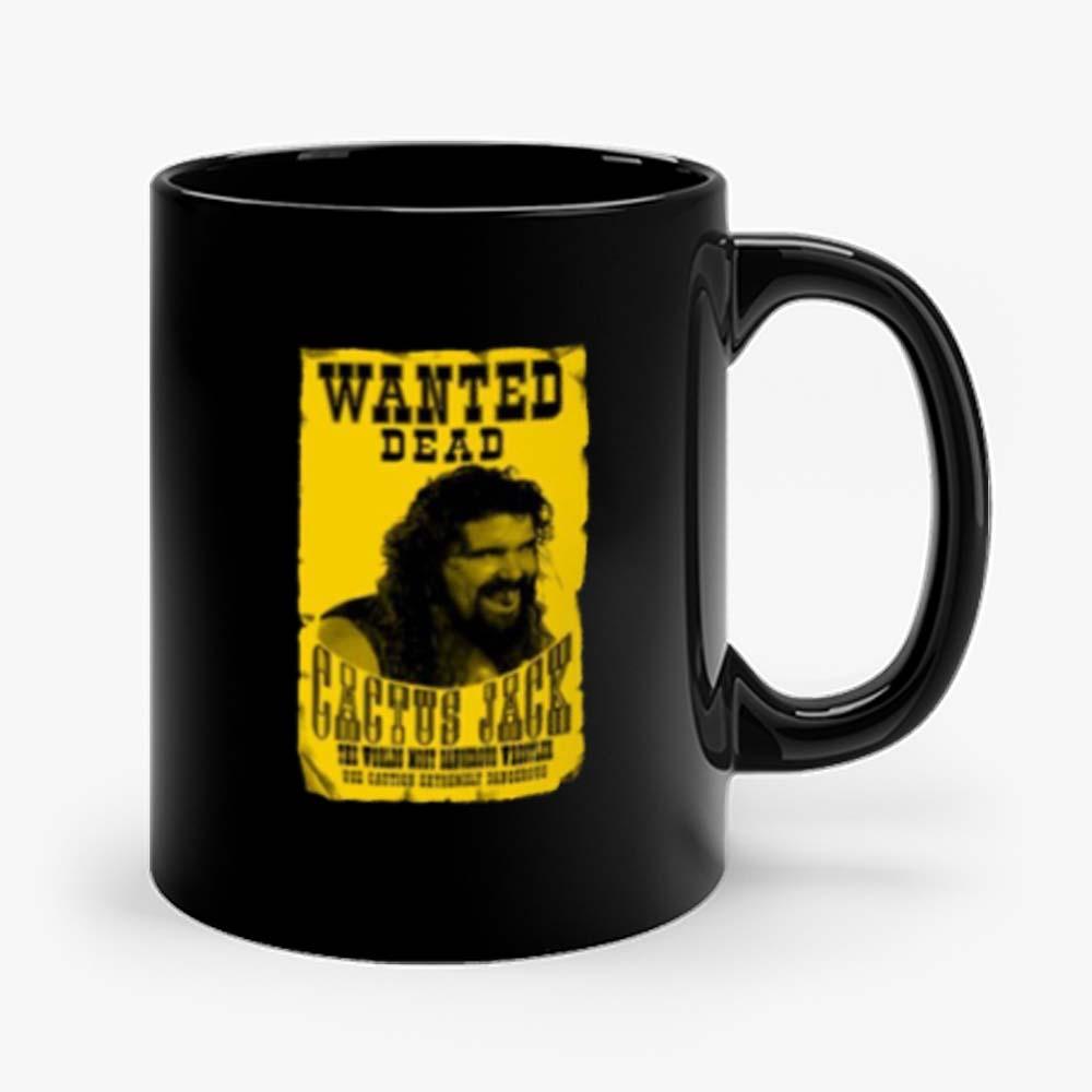 Cactus Jack Mick Foley Yellow Poster Wanted Dead Mug