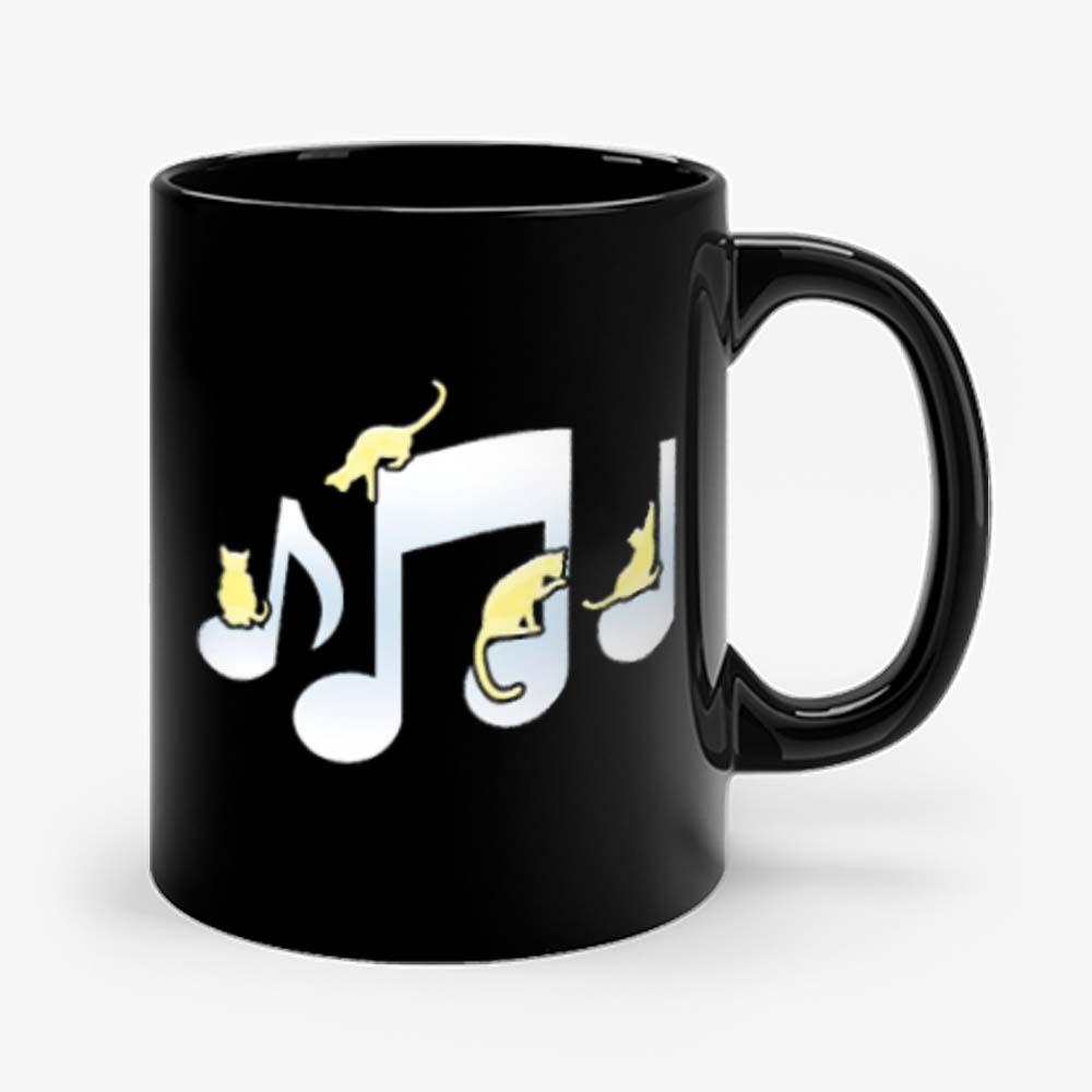 Cats Playing On Musical Notes Mug