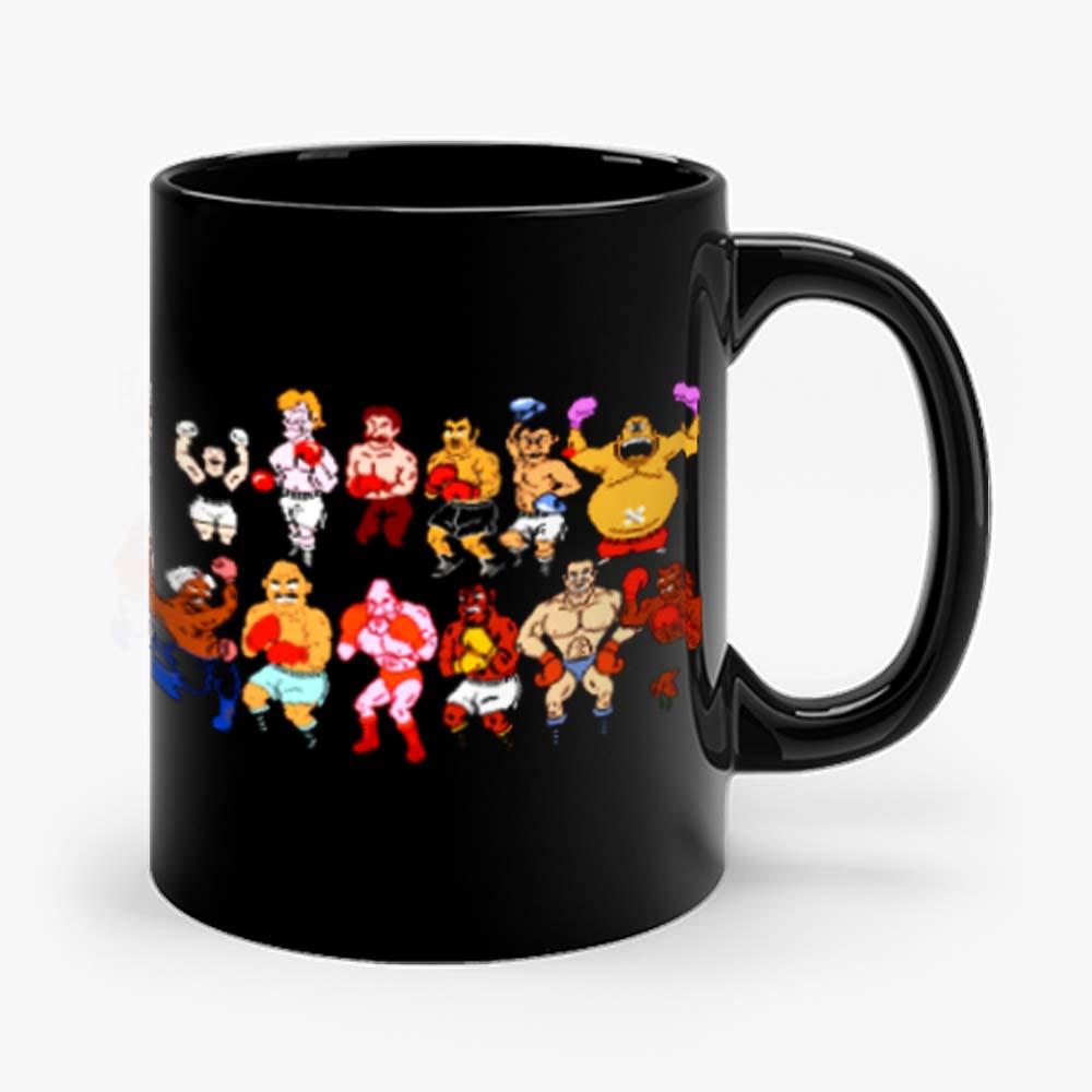 Classic Nes Nintendo 8bit Mike Tyson Punchout Characters Mug