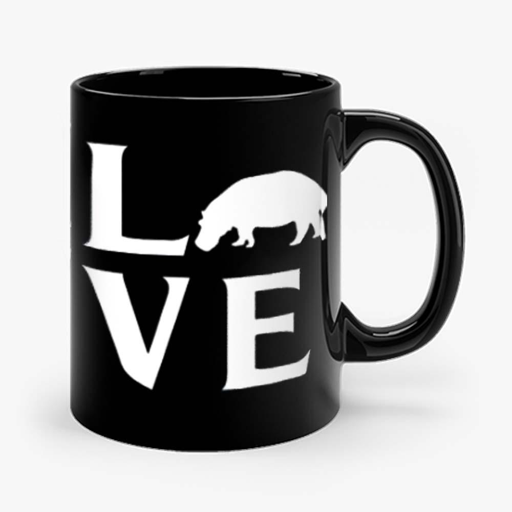 Extinction Animals Hippopotamus Love Mug