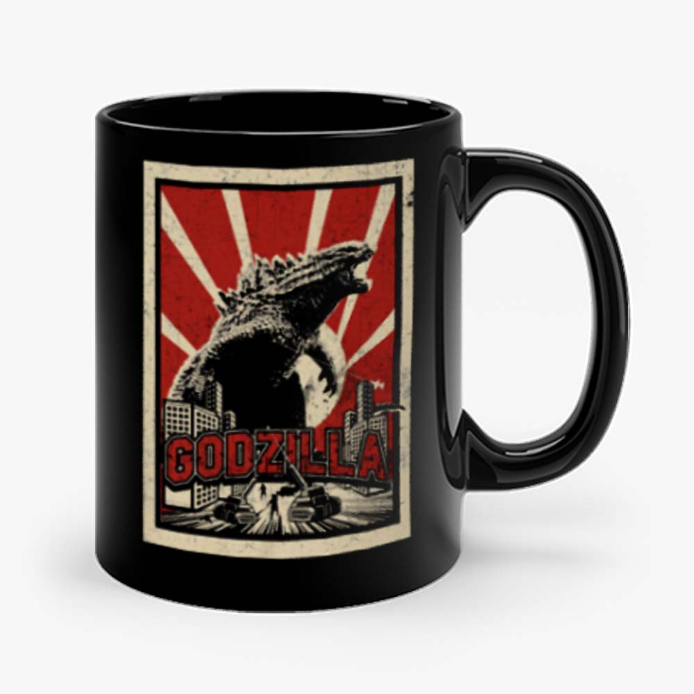 Godzilla Retro Vintage Mug