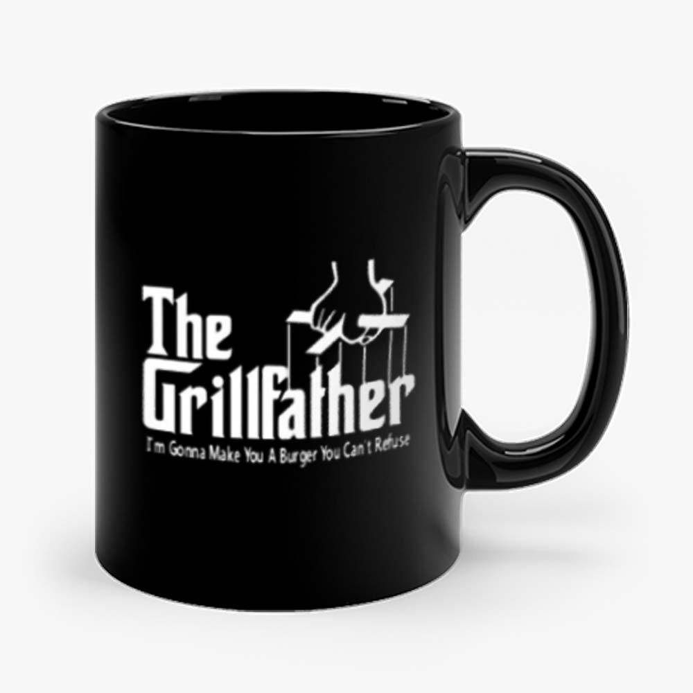 Grillfather Funny Fathers Day Bbq Barbecue Grill Dad Grandpa Mug