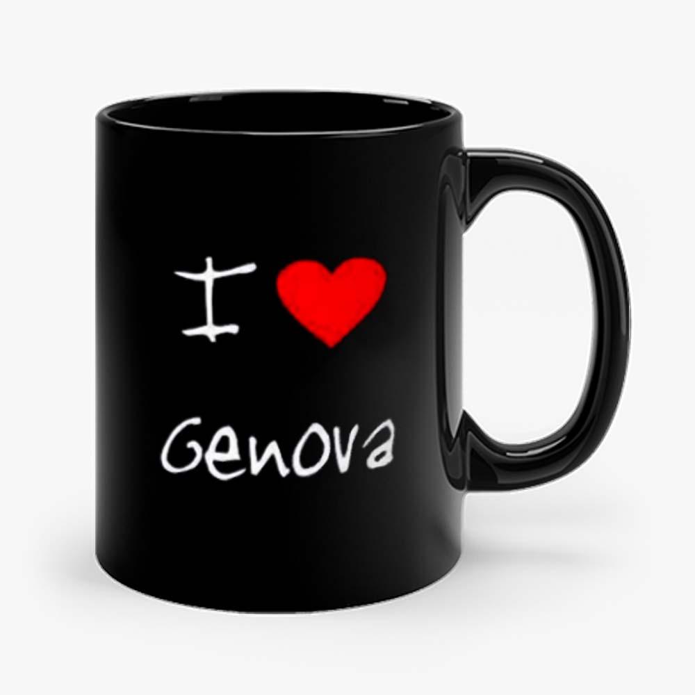 I Love Heart Genova Mug