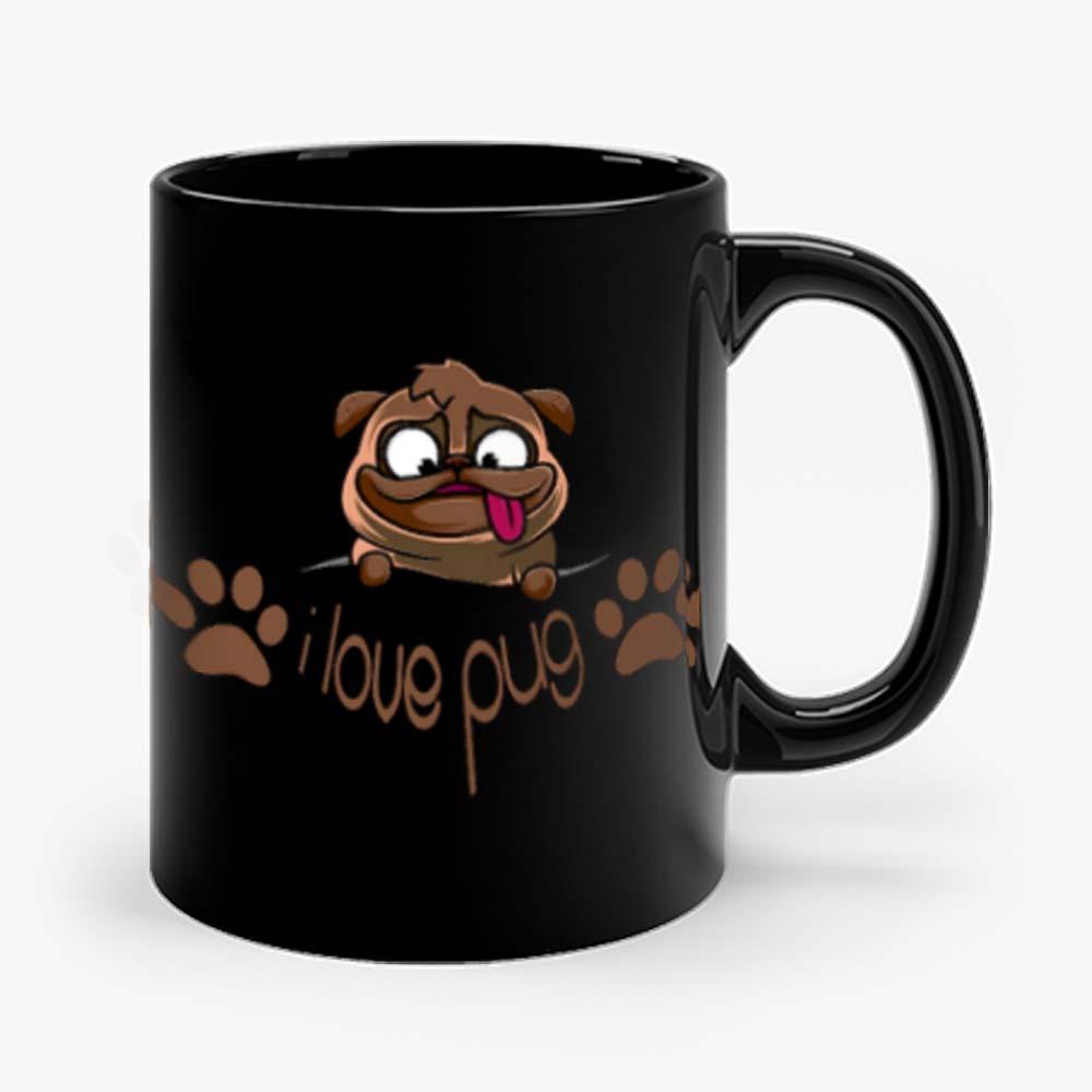 I Love Pug Dogie Lover Mug