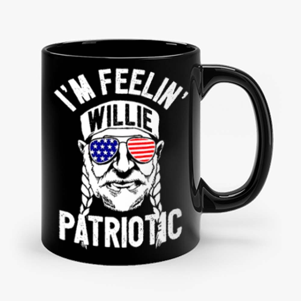 Im Feelin Willie Patriotic Murica Willy Nelson 4th of July Mug