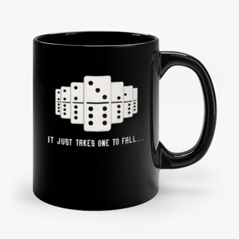 It Just Takes One To Fall Tiles Puzzler Game Mug