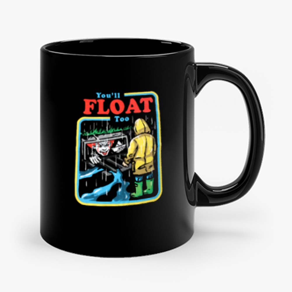 It The Movie Youll Float Too Georgie Pennywise The Clown Paper Boat Mug