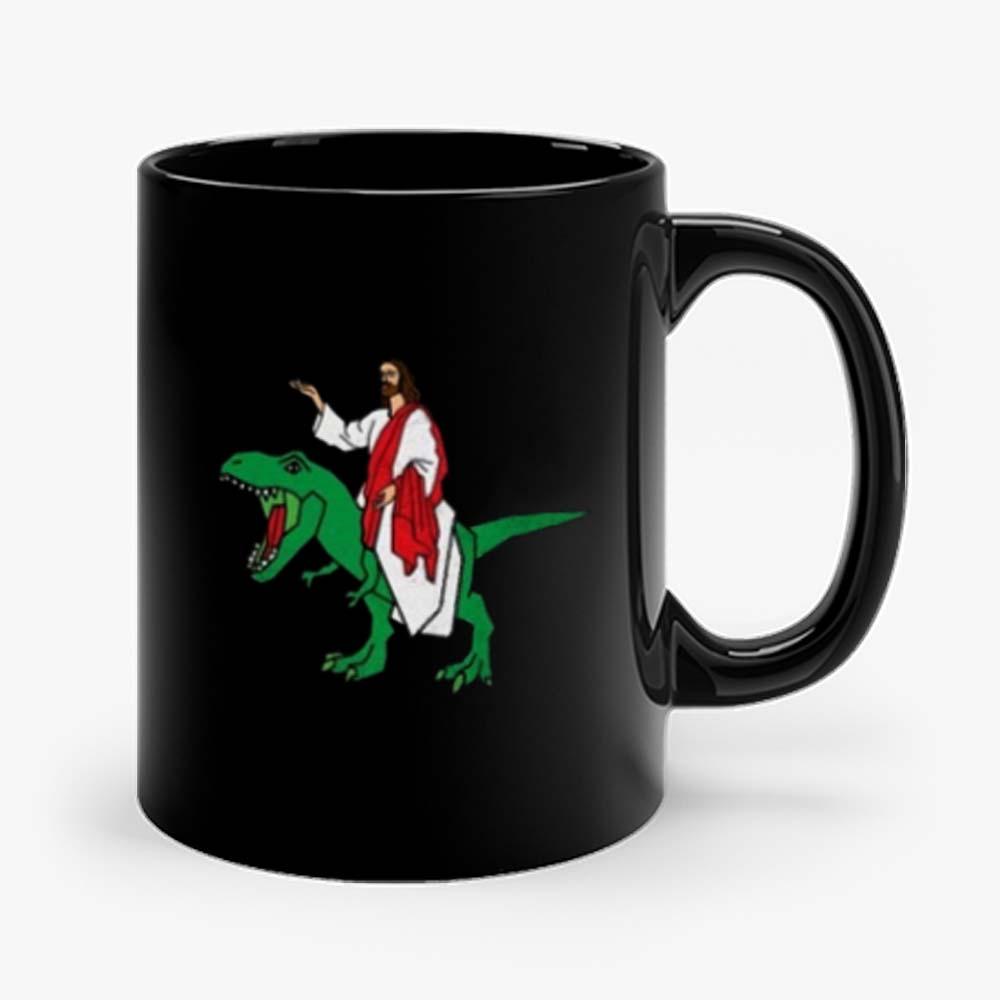 Jesus on Dinosaur Mug