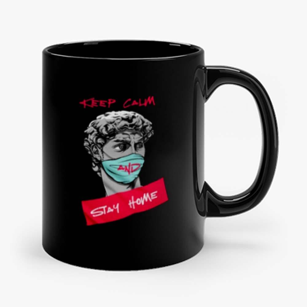 Keep Calm and Stay Home Mug