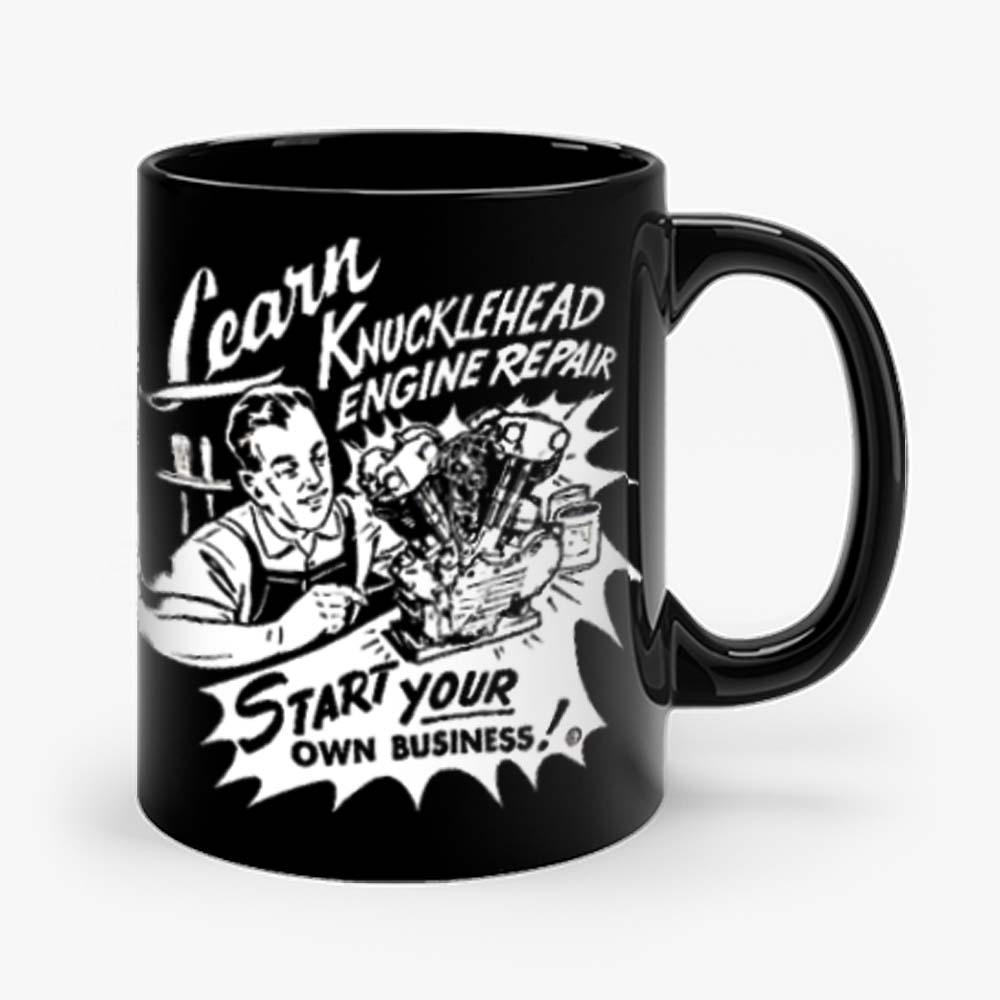 Knucklehead Repair Harley Engine Cannonball Vintage Mug