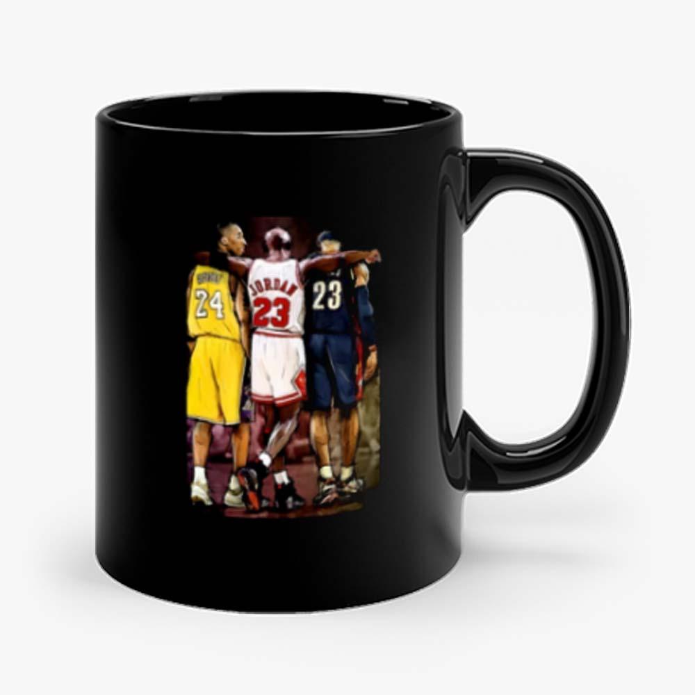 Kobe Bryant Michael Jordan Lebron James Basketball Fan Mug