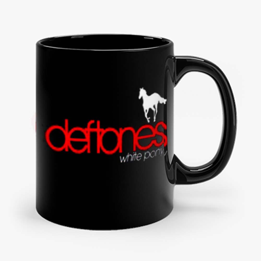 New Deftones White Pony Metal Band Legend Logo Mens Black Mug