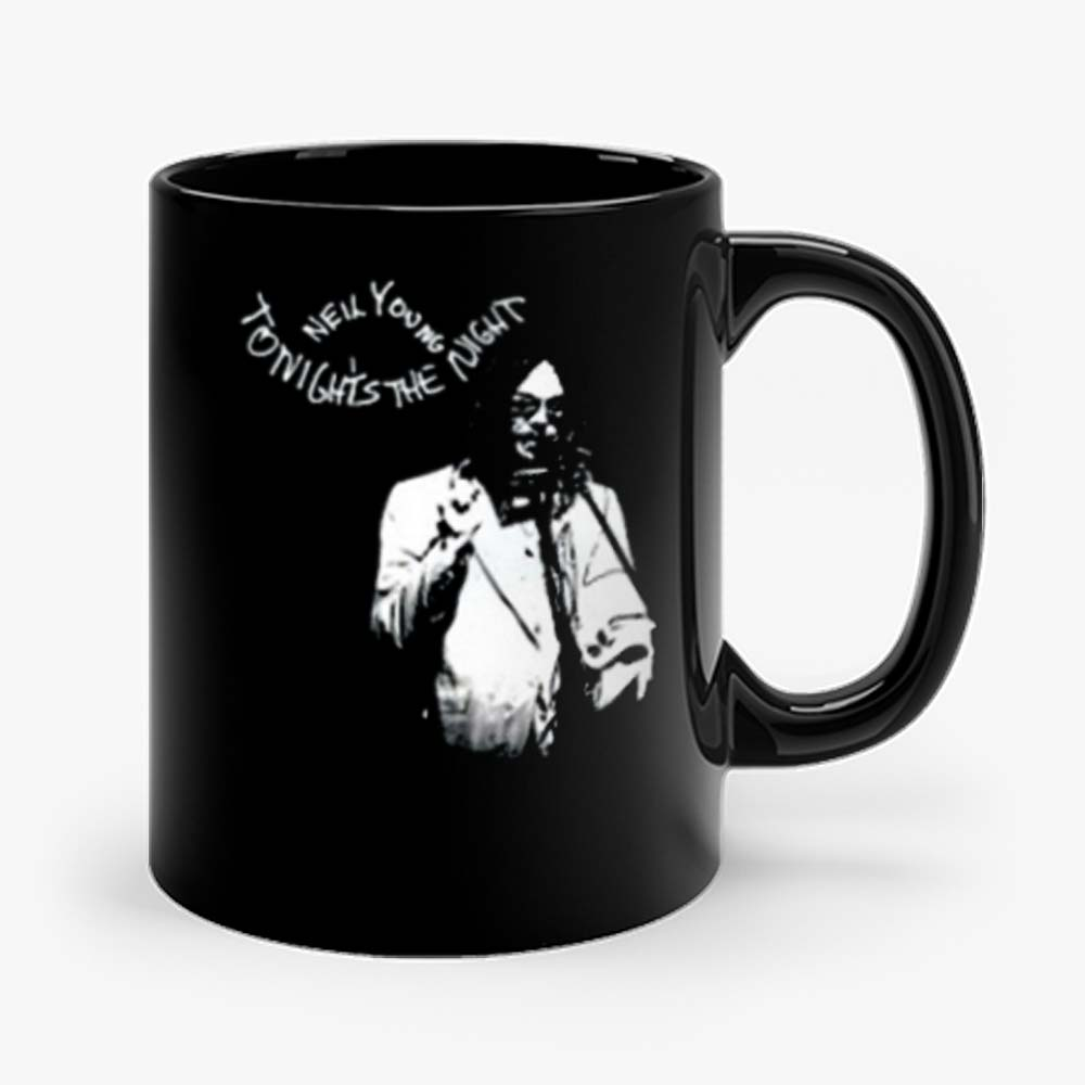 New Neil Young Tonights The Night Album Cover Mens Black Mug