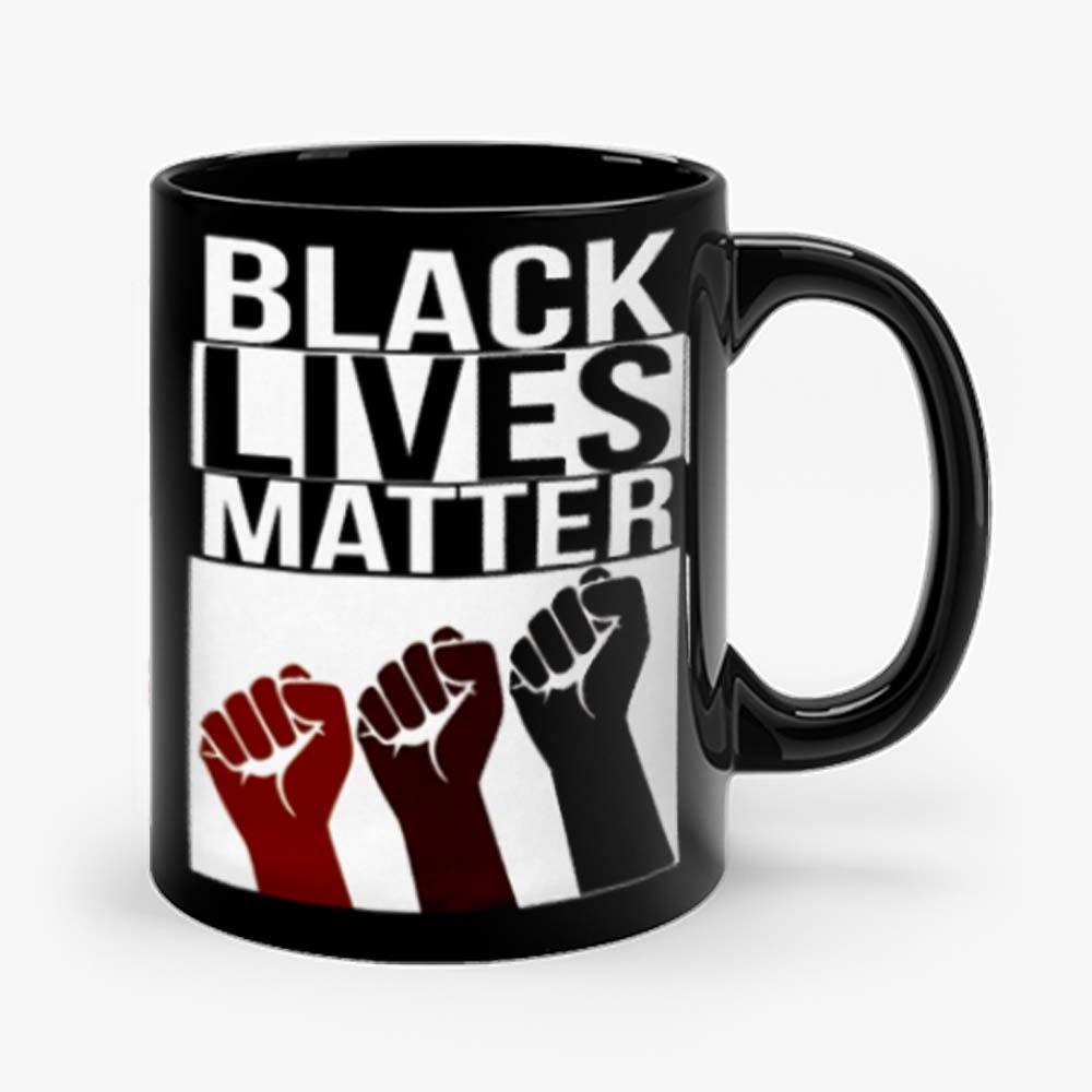No Justice No Peace Black Lives Matter 3 Fist Mug