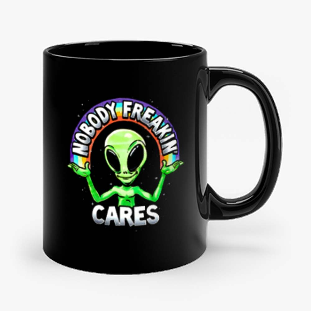 Nobody Freakin Green Alien Mug