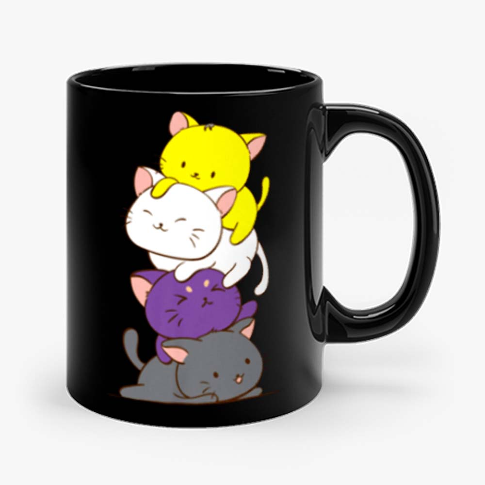 Nonbinary Gender and Genderqueer Cat Lovers Mug