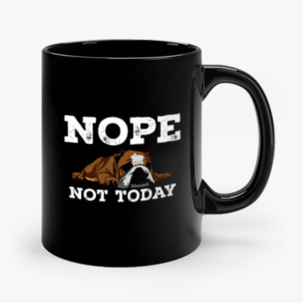 Nope Not Today Funny Cute Bulldog Vintage Mug