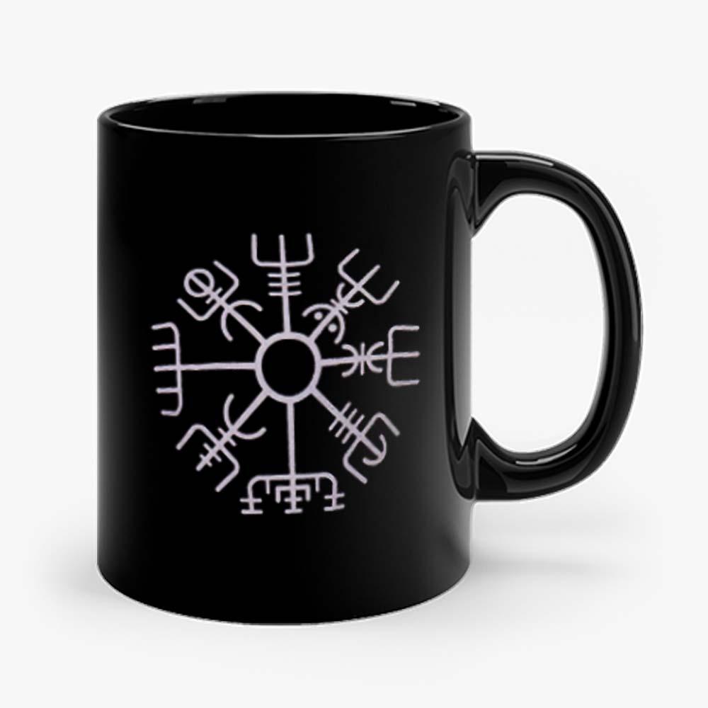 Nordic Viking Rune Compass Norse Mug