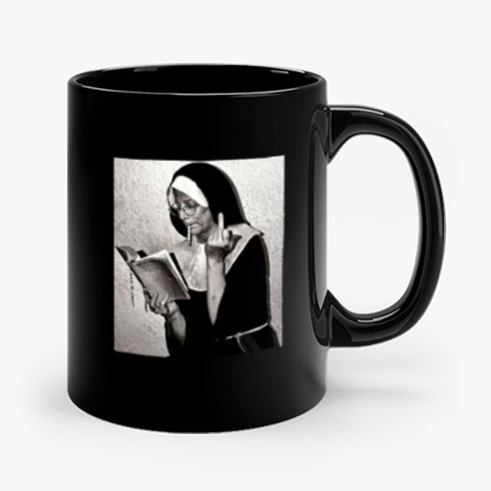 Nun Middle Finger Attitude Retro Mug