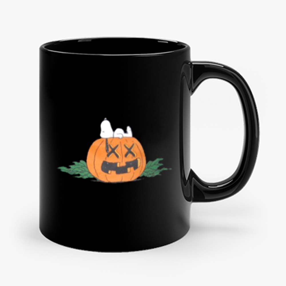 Original Fake Kaws Snoopy Peanuts Halloween Mug