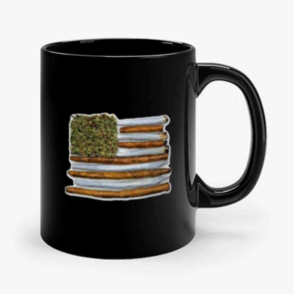 Weed Flag America High Drug Funny Mug