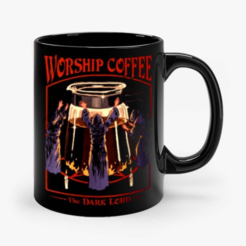 Worship Coffee Ritual Funny Mug