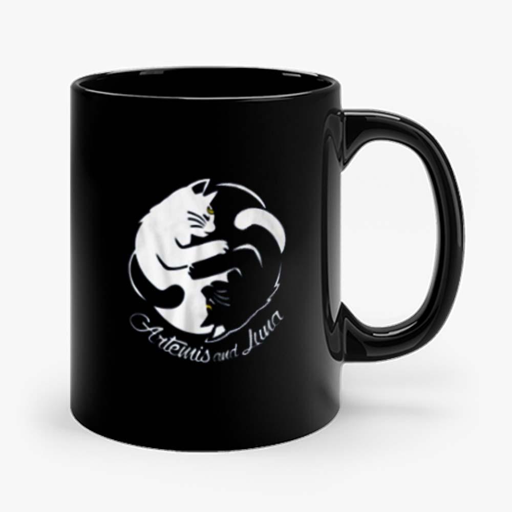 Yin Yang Cats Artemis And Luna Sailormoon Mug