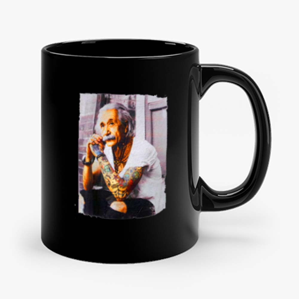 Young Albert Tattoo Einstein Mug