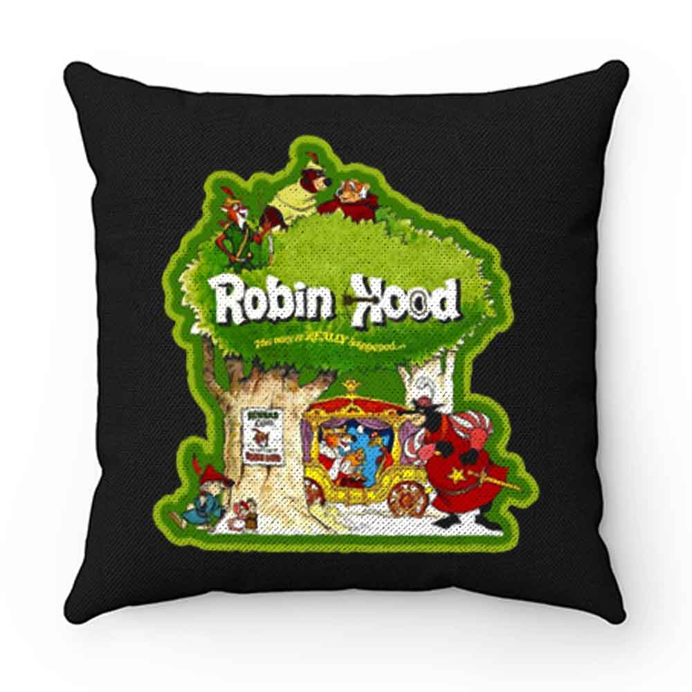 70s Disney Animated Classic Robin Hood Pillow Case Cover