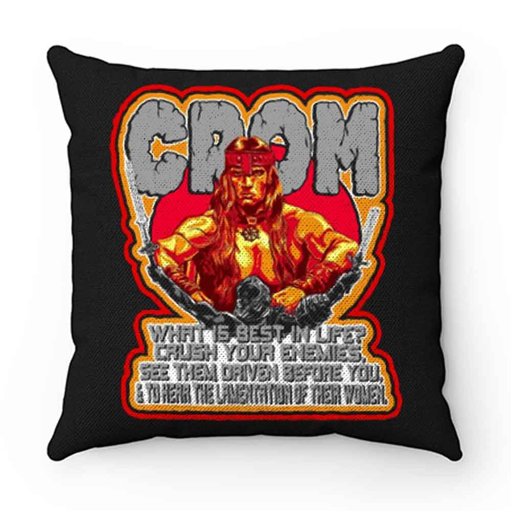 80s Schwarzenegger Classic Conan the Barbarian Whats Best In Life Pillow Case Cover