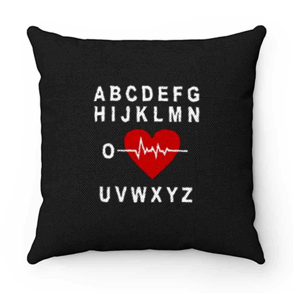 A B C D E F G H Love Heart Heartbeat Pillow Case Cover
