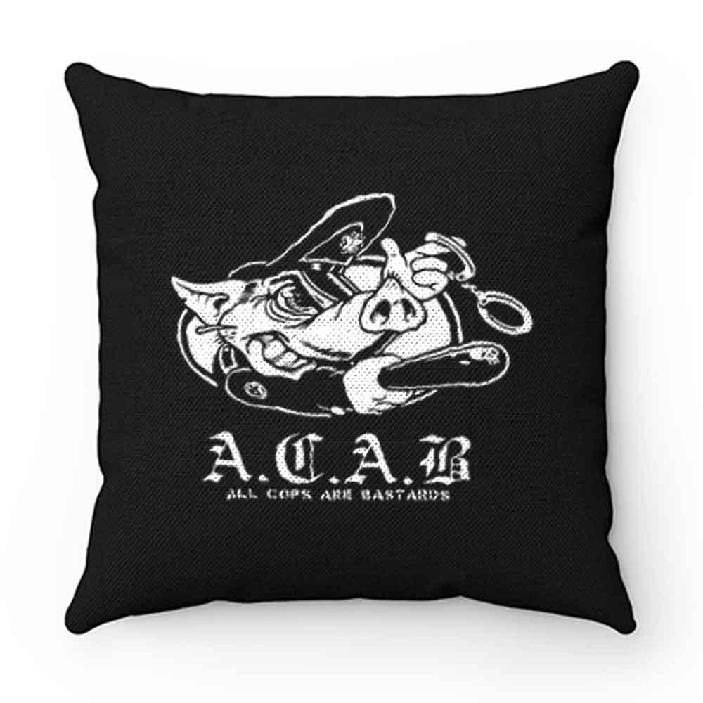 ACAB Pig Police Bastards Pillow Case Cover