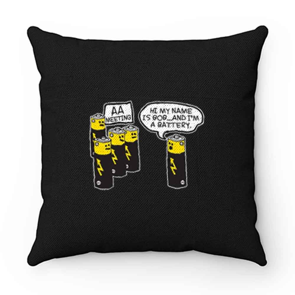 Aa Battery Meeting Pillow Case Cover