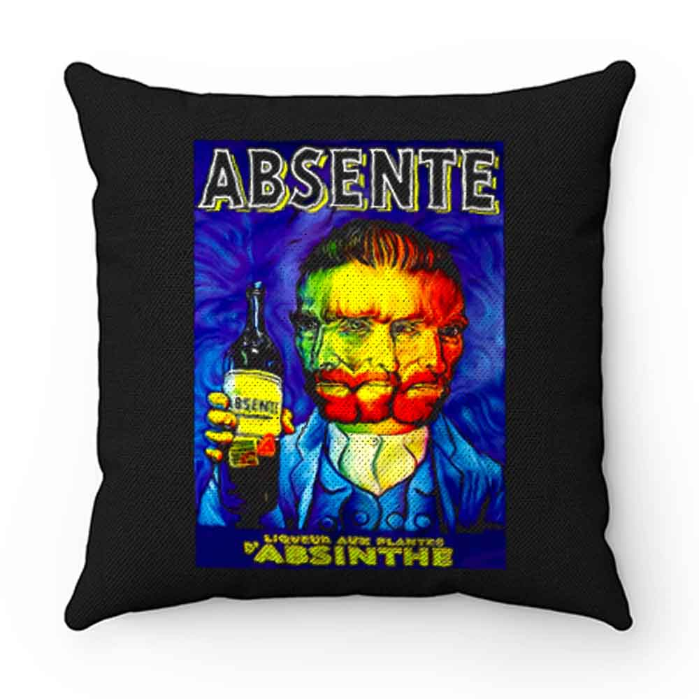 Absente Vintage Absinthe Liquor Advertisement with Van Gogh Pillow Case Cover